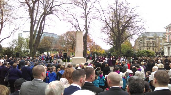 Residents turn out for parade and services for Remembrance Sunday
