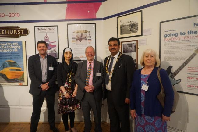 Mayor officially opens new railway exhibition at Reading Museum