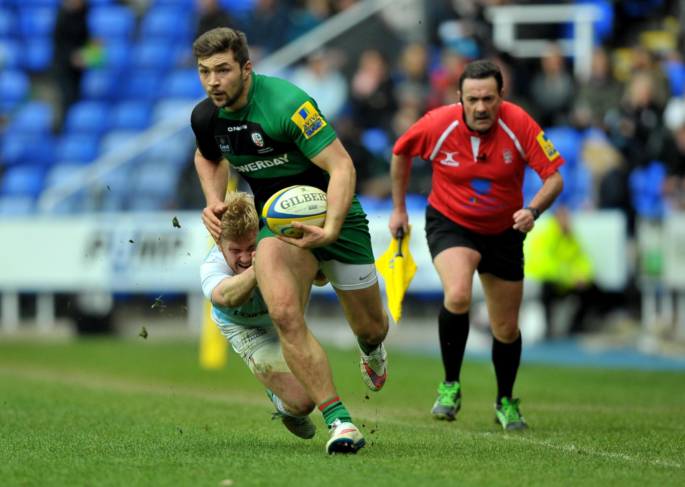 Tom Fowlie scored a late try for London Irish.