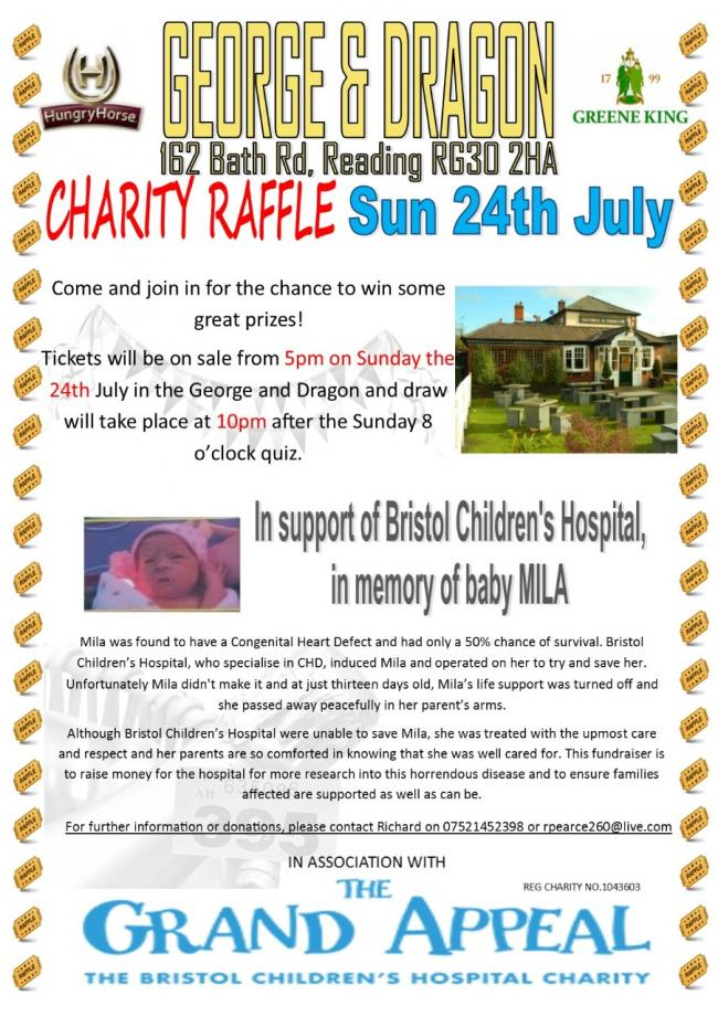 George and Dragon charity raffle