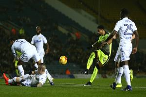 Reading had plenty of chances at Leeds United including this effort by Garath McCleary.
