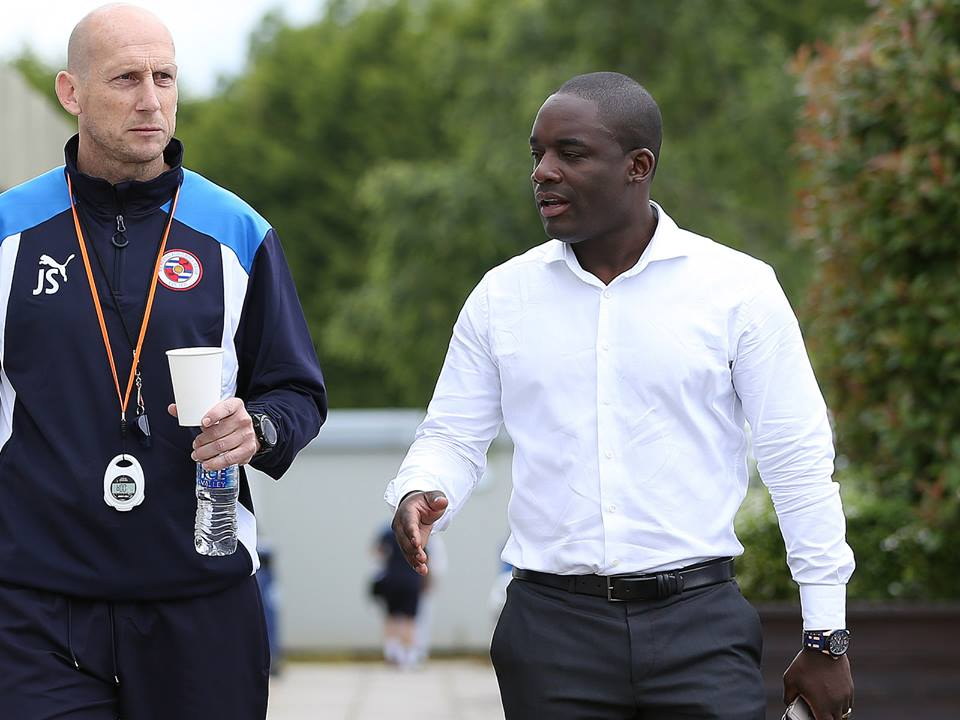 Brian Tevreden, right, with manager Jaap Stam.