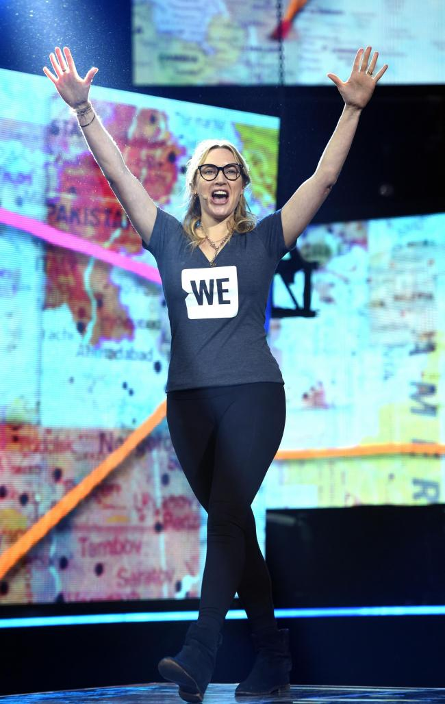 Kate Winslet, from Reading, at WE Day
