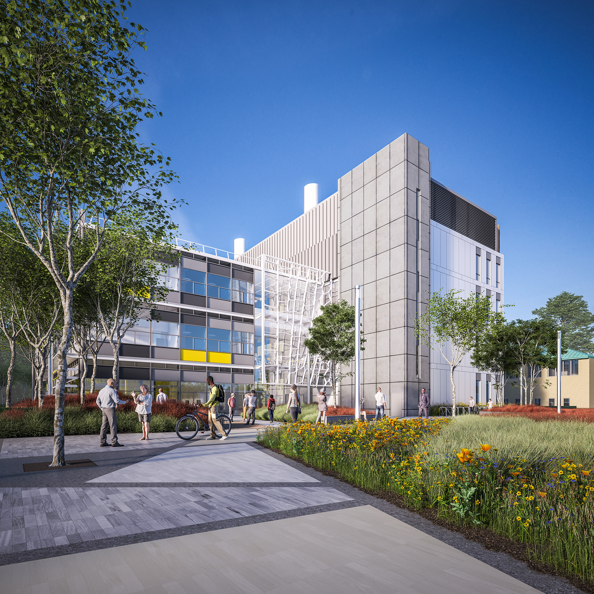 An artist's impression of the new laboratory on the Whiteknights Campus