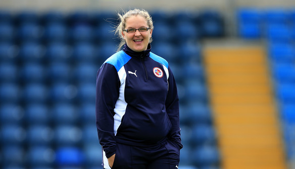 Reading FC Women coach, Kelly Chambers.