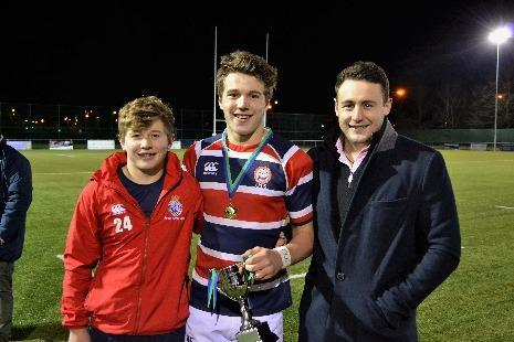 Pangbourne College pupil Fin Rossiter (centre) with brothers Jonah (left) and Jak.