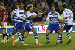 Yann Kermorgant celebrates his winning penalty against Fulham in the play-off semi finals. Picture: Ian Morsman.