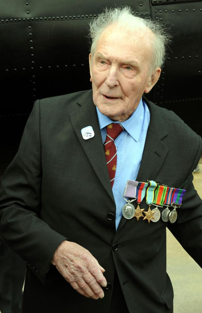 "File photo dated 8/8/2014 of George ""Johnny"" Johnson, the last surviving British Dambuster who has said he will never forget those that did not return from the famous raid. PRESS ASSOCIATION Photo. Issue date: Sunday October 11, 2015. ohnson, no"