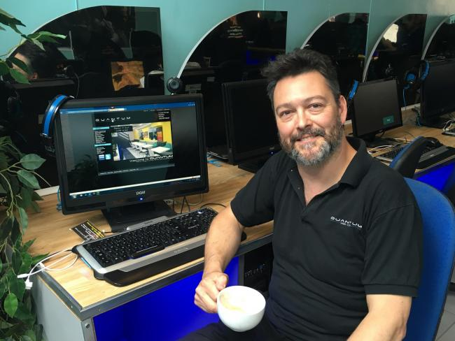 Jason Deane has been the owner of Quantum Web Cafe since it opened in 1999