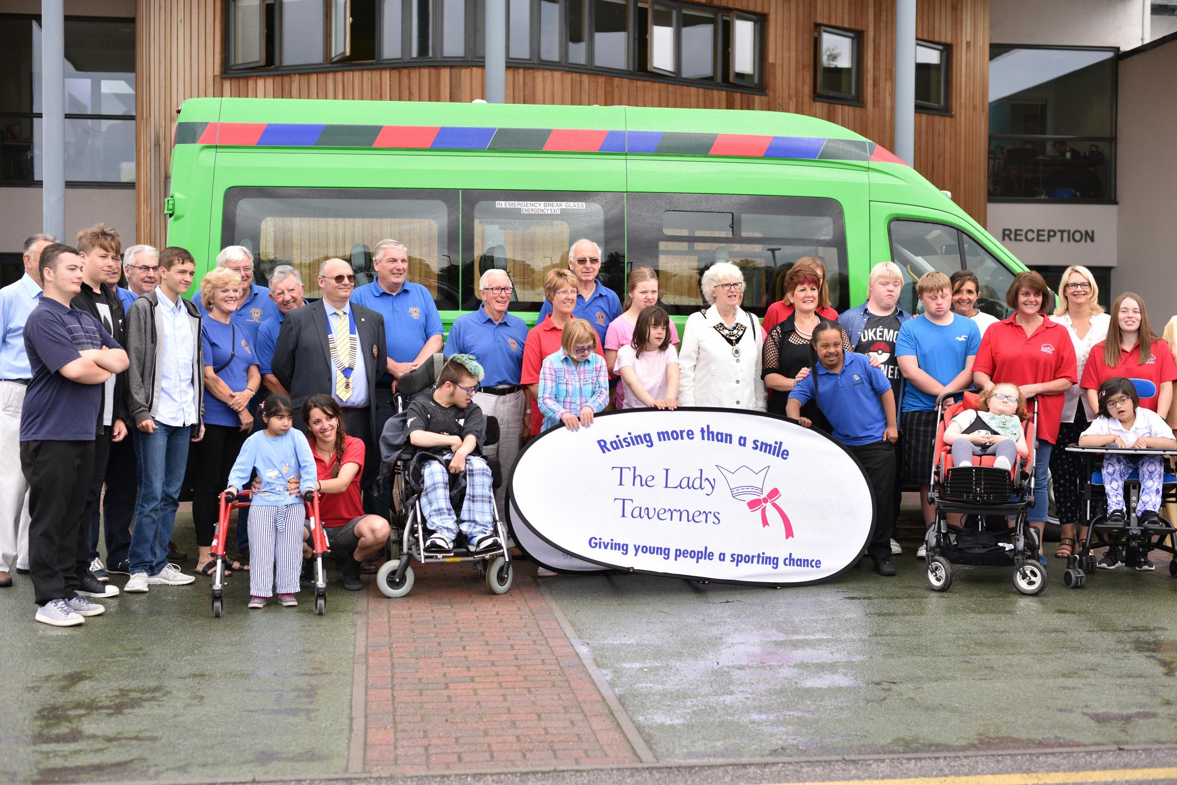 New minibus for outstanding special school