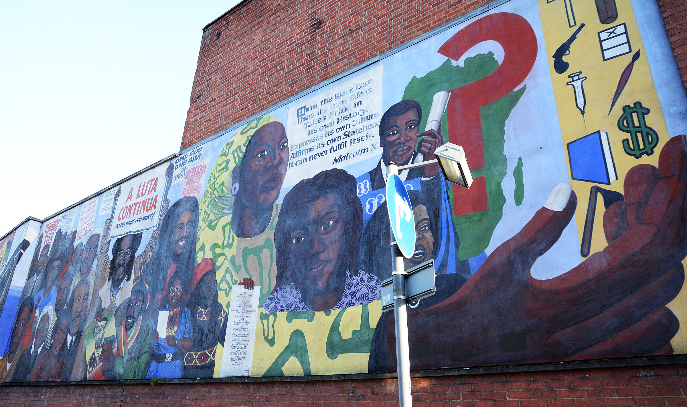 Black History mural undergoes restoration following safety concerns