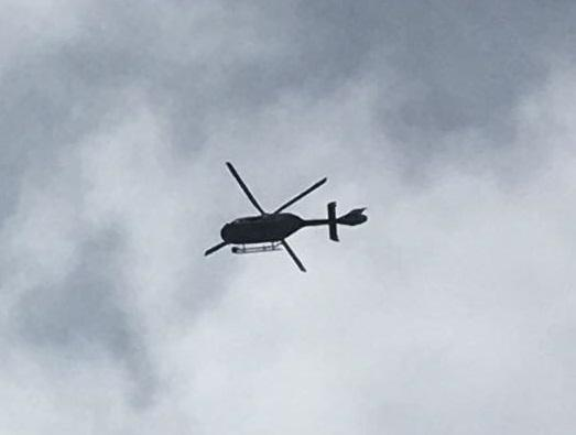 Police arrest two men suspected of knife-point robbery following helicopter pursuit
