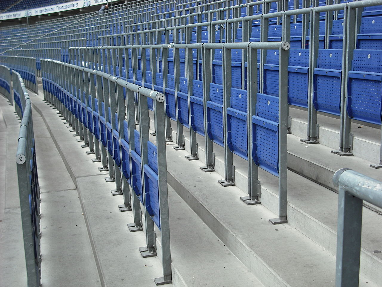 Safe Standing seats at the HDI Arena in Hannover, Germany
