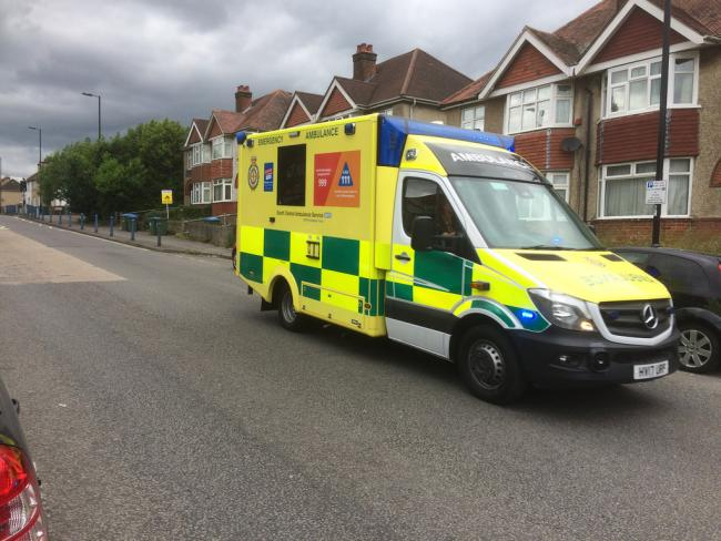Biker rushed to hospital with leg injuries following collision