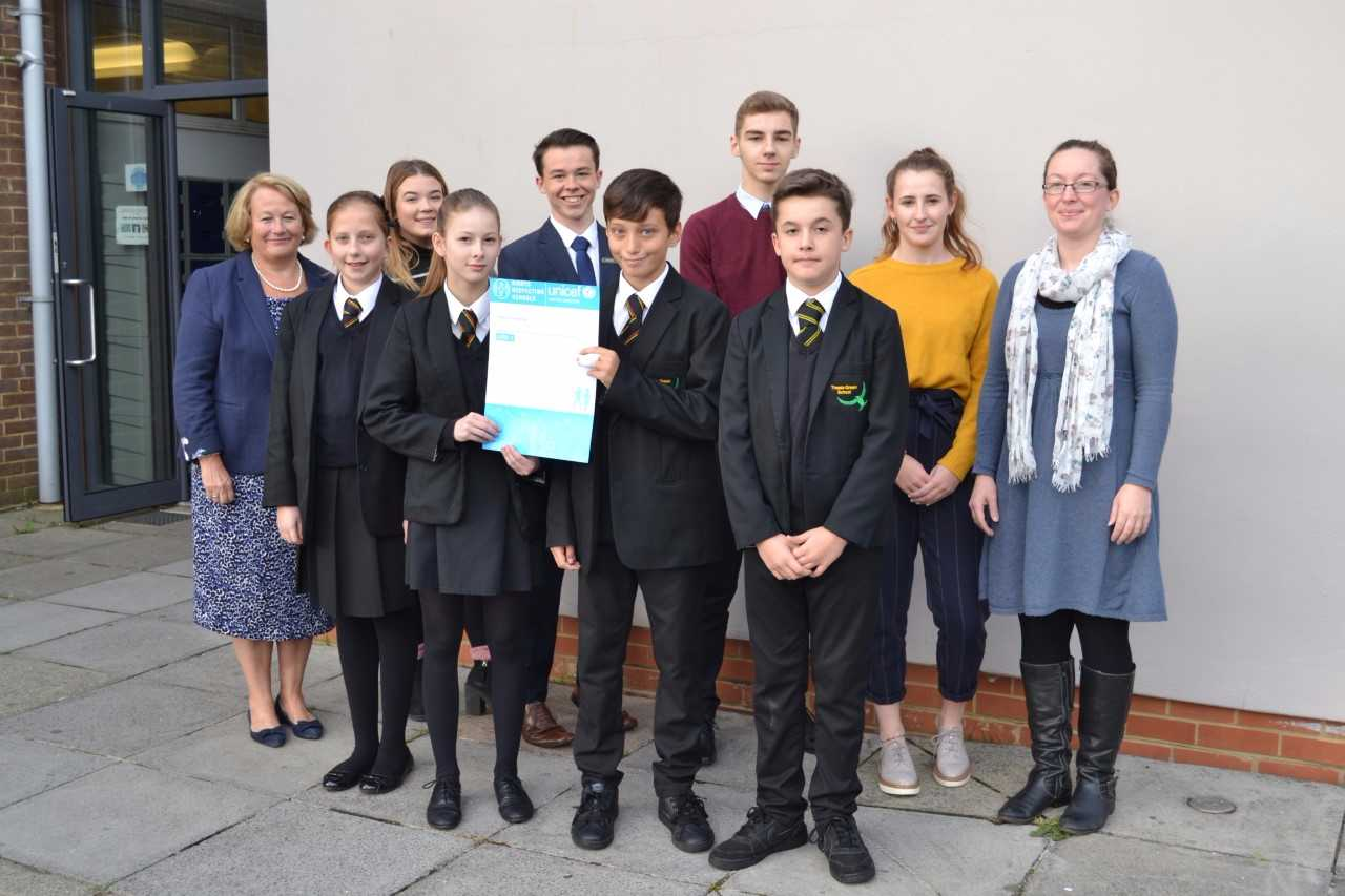 Global human rights charity praises school for equality campaign