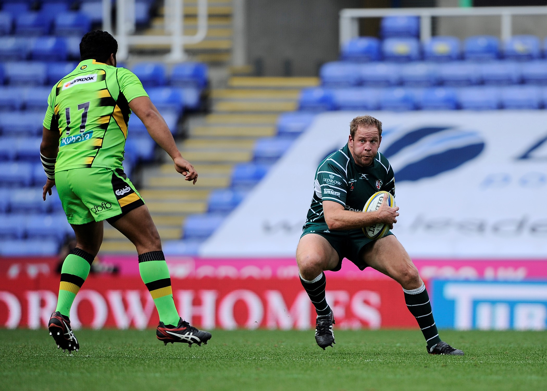David Paice crossed for London Irish's only try against Saracens. Picture: David M.Moore.