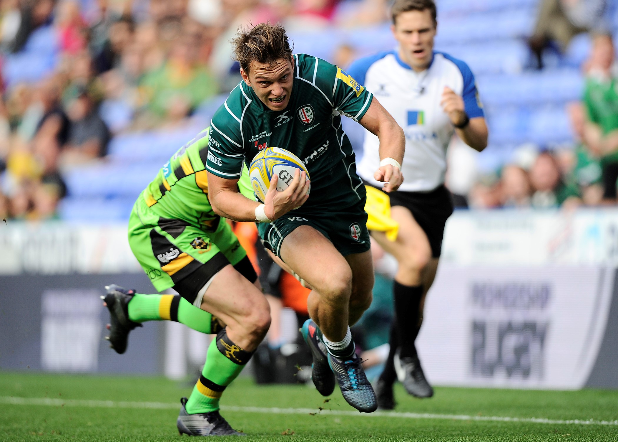 Irish wing Alex Lewington is moving to Saracens. Picture: David M.Moore.
