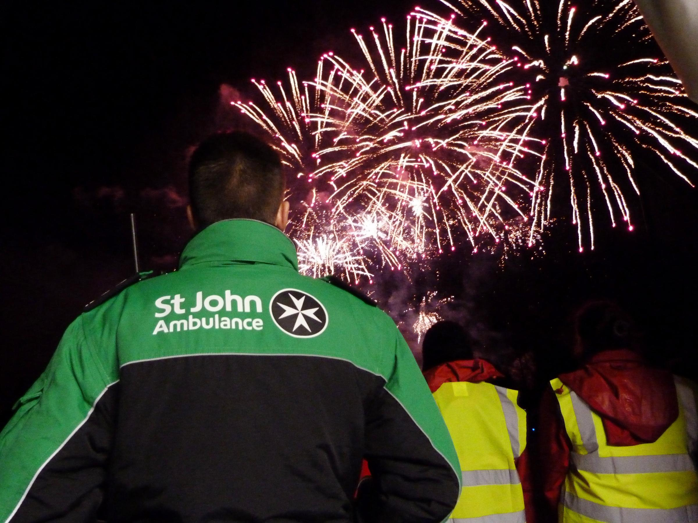 St Johns Ambulance releases advice for firework night and dealing with injuries