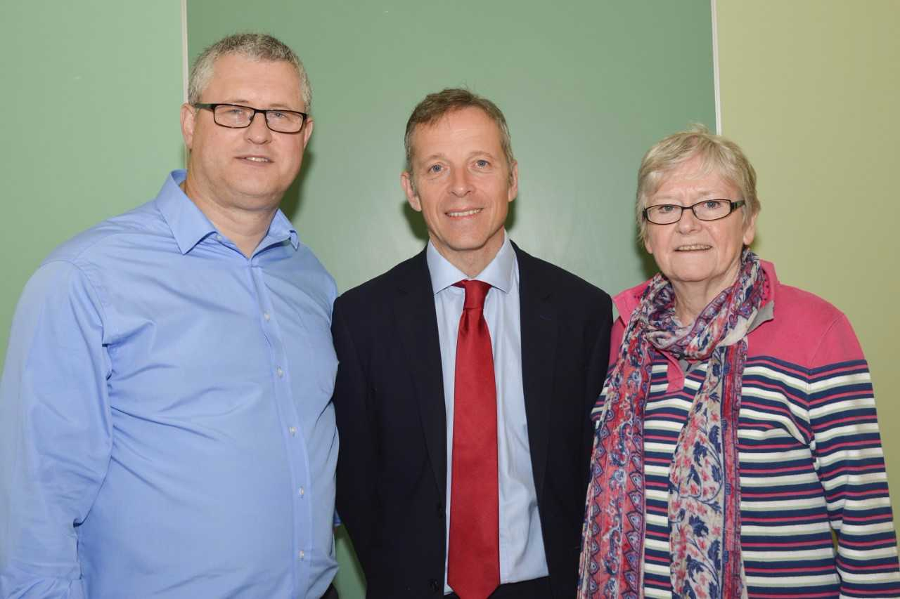 L-R: Cllr Andy Croy, Matt Rodda MP and Cllr Sheena Matthews at the meeting