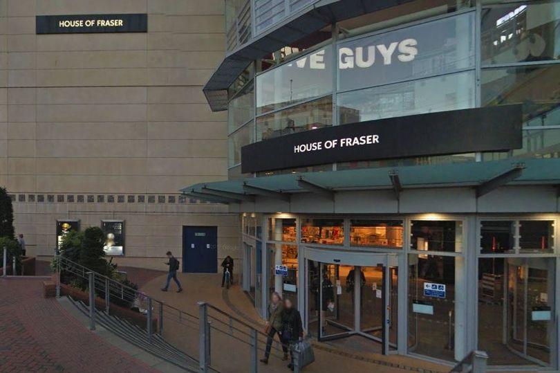 Firefighters tackle flooding at House of Fraser