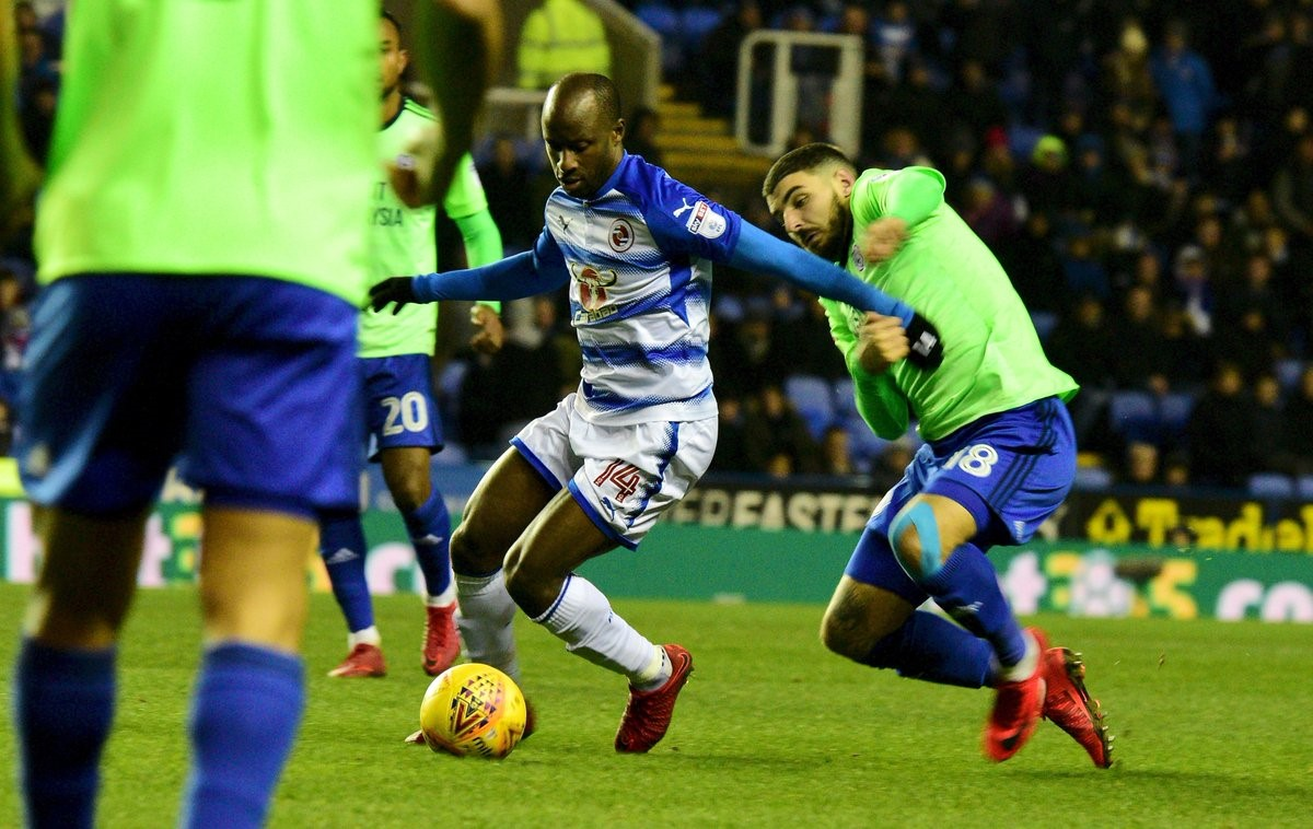 Sone Aluko in action against Cardiff City on Tuesday night