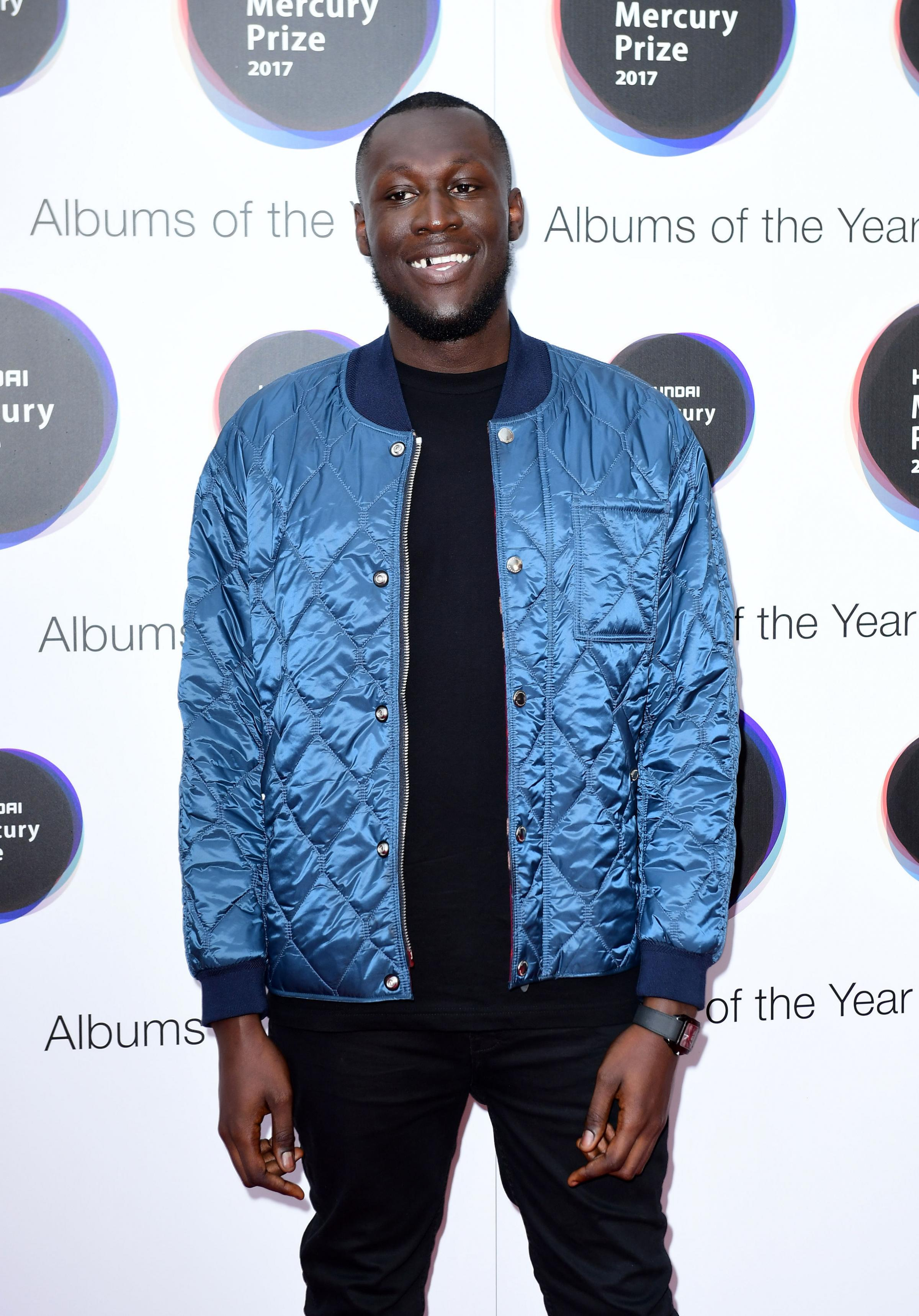 File photo dated 14/09/17 of Stormzy, who has performed at a fan's father's funeral service after an extraordinary Twitter request. PRESS ASSOCIATION Photo. Issue date: Thursday December 21, 2017. Last week the rapper posted a music video on Twitt