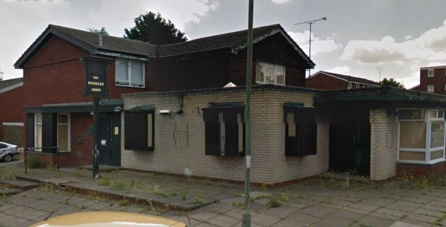 The derelict Woodley Arms pub - Picture: Google