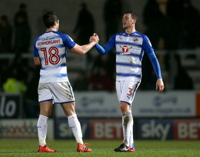 Tommy Elphick, right, in action for Royals last season.