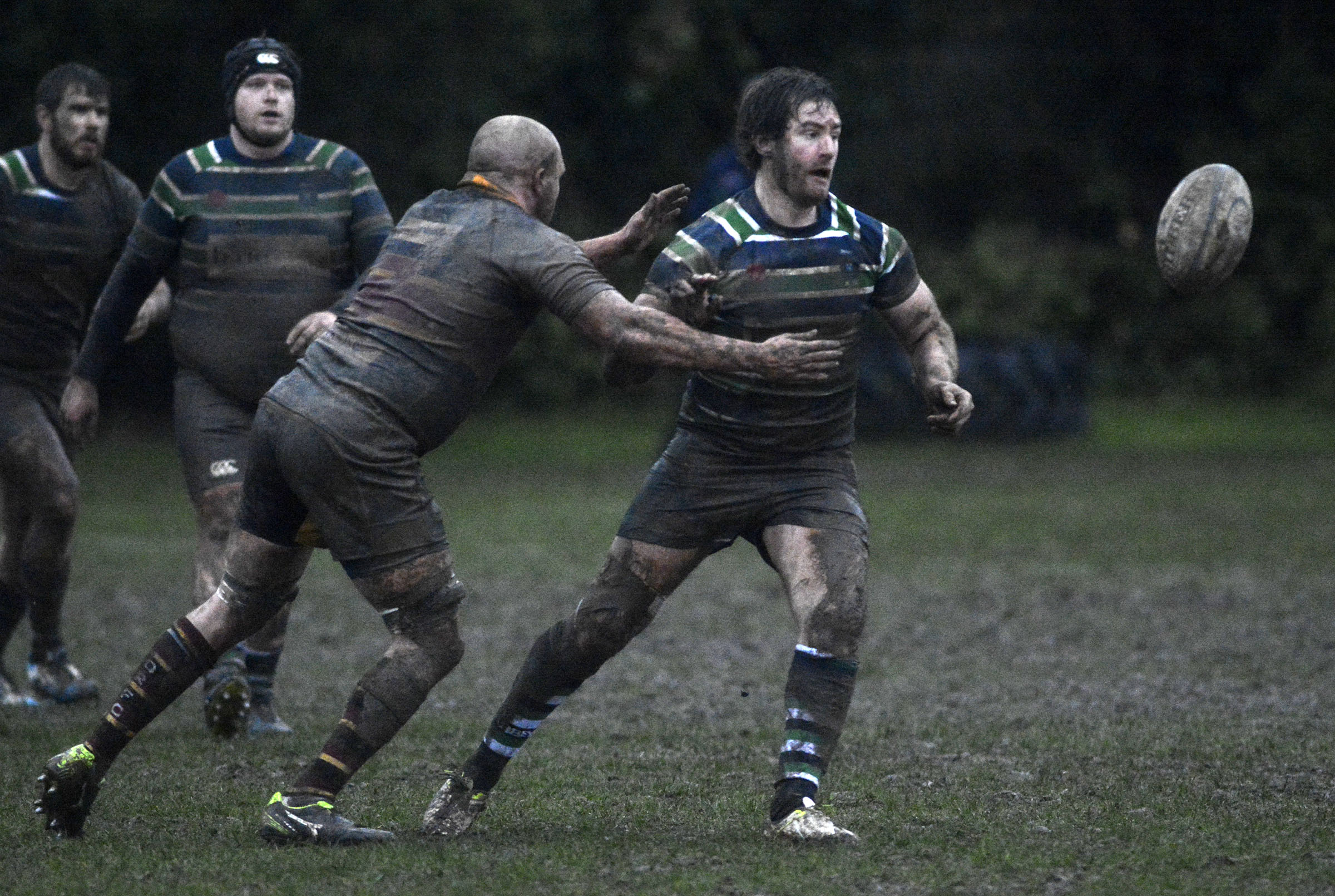 Reading Abbey (green/white) beat Drifters 43-7 on Saturday Pictures by Paul Johns 180175