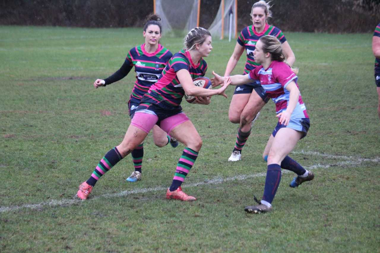 Lou Burgham scored a try for Reading Abbey Nuns