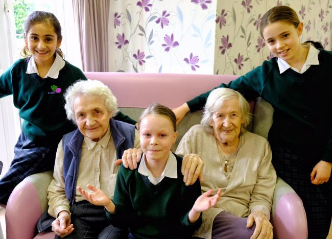 Generous children donate hundreds to care home