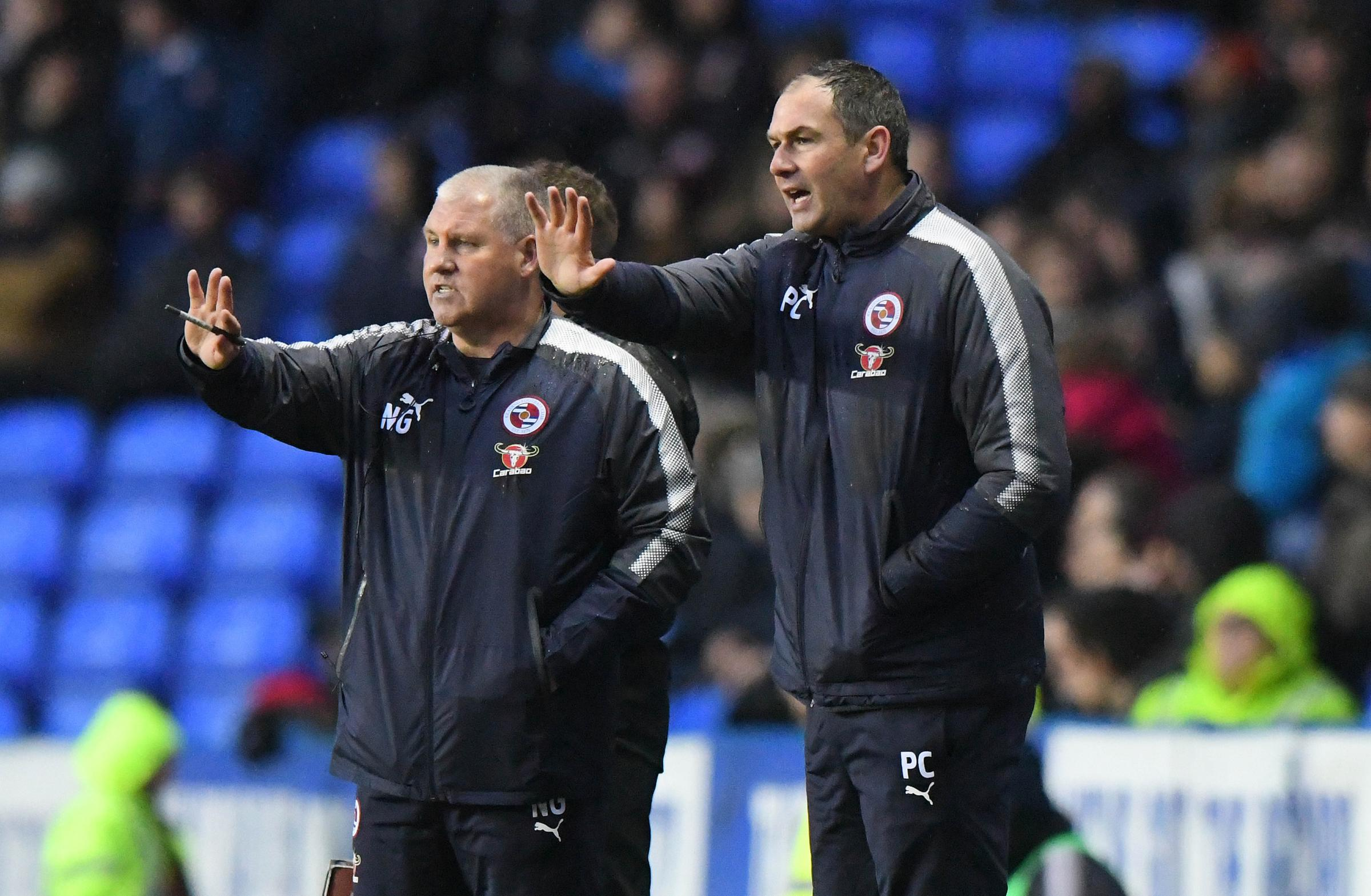 Reading boss Paul Clement, right, and assistant, Nigel Gibbs.