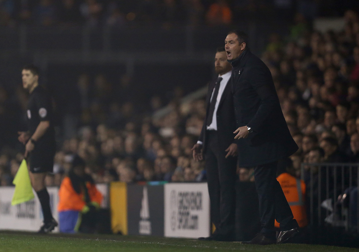 Paul Clement looks on from the touchline at Craven Cottage. Pictures: Jason Dawson/jasonpix.