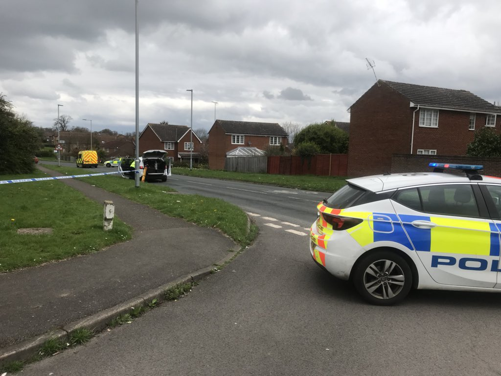 Emergency services on the scene after incident in Earley