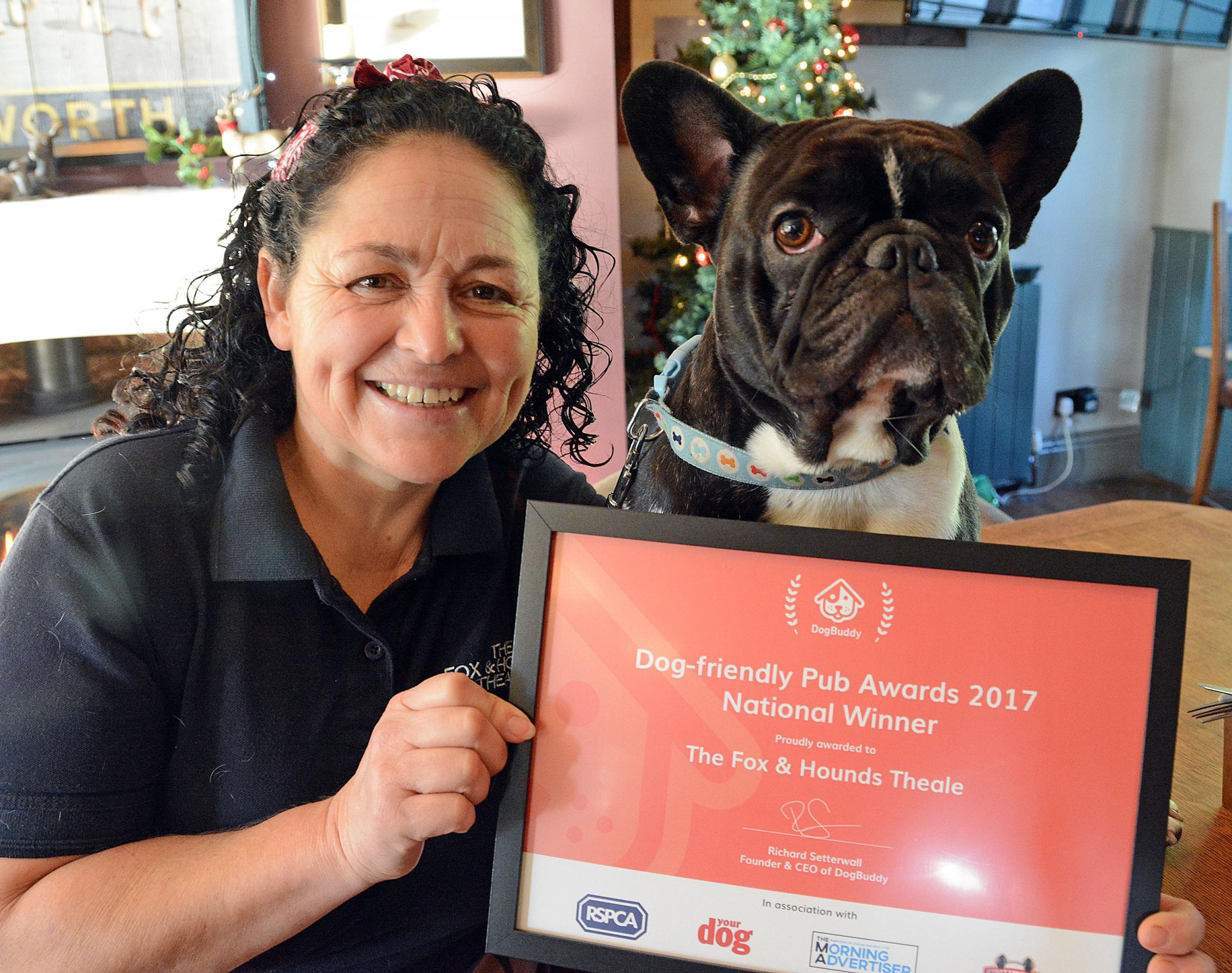 Jayne Tilsley from The Fox and Houns Pub in Theale - Picture: Mike Swift
