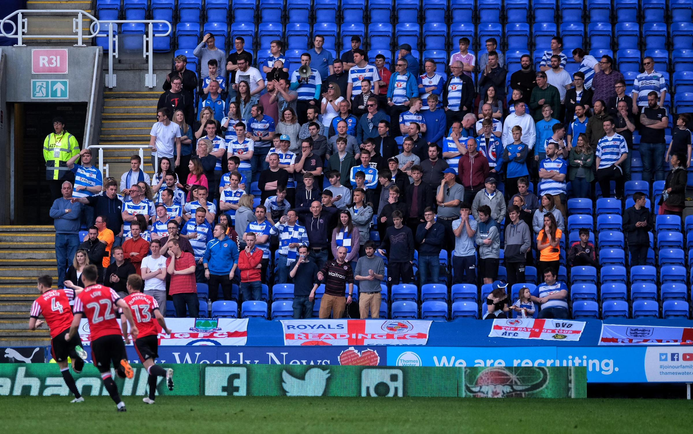 Liam Moore is paying for these south stand supporters to travel to Sheffield Wednesday.