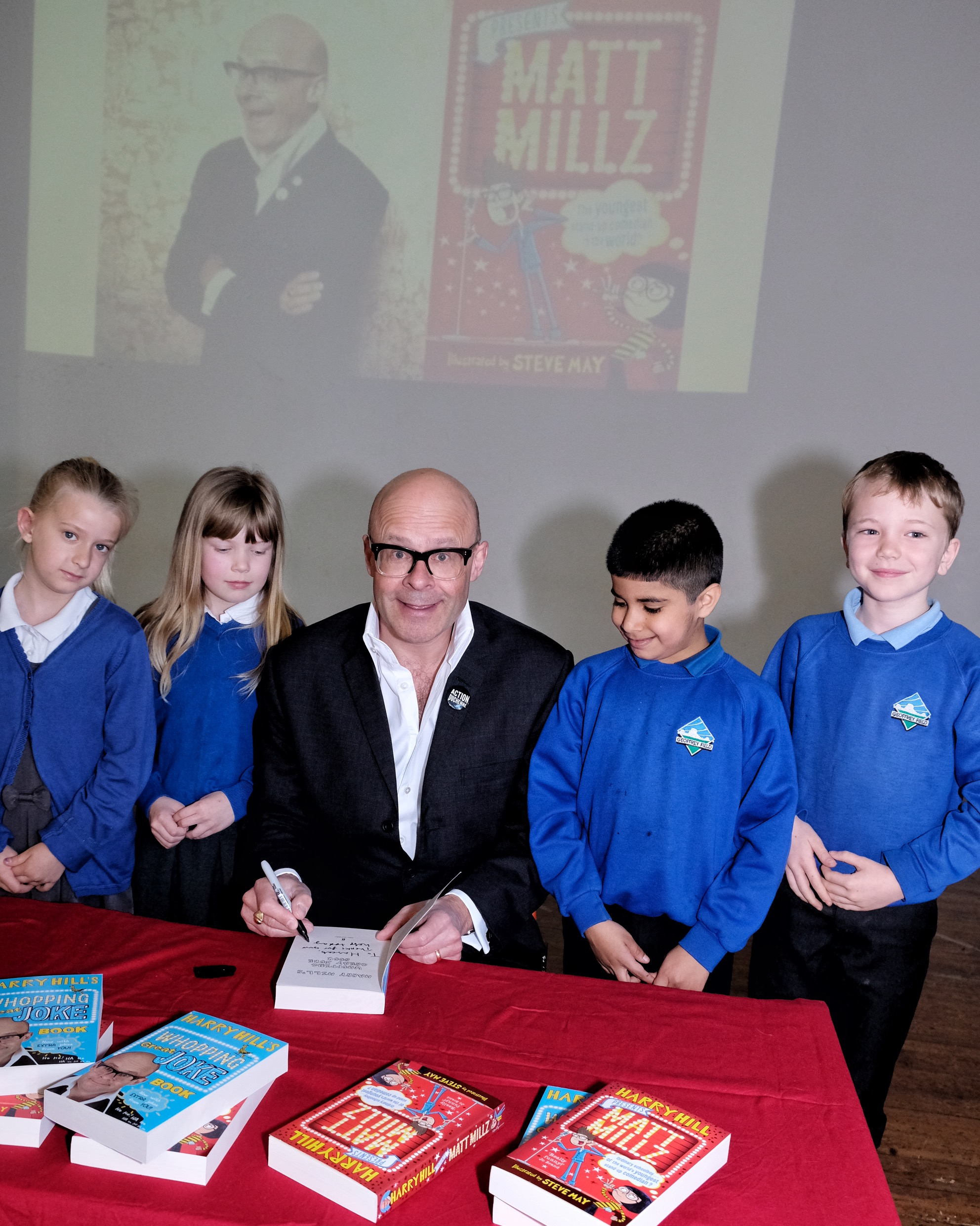 PICTURES: Harry Hill visits primary school to launch new children's book