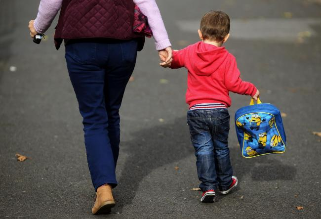 Embargoed to 0001 Monday April 30File photo dated 13/10/15 of a woman and a child, as a new small-scale survey, conducted by the National Association of Head Teachers (NAHT) suggests that many nurseries and childminders are struggling