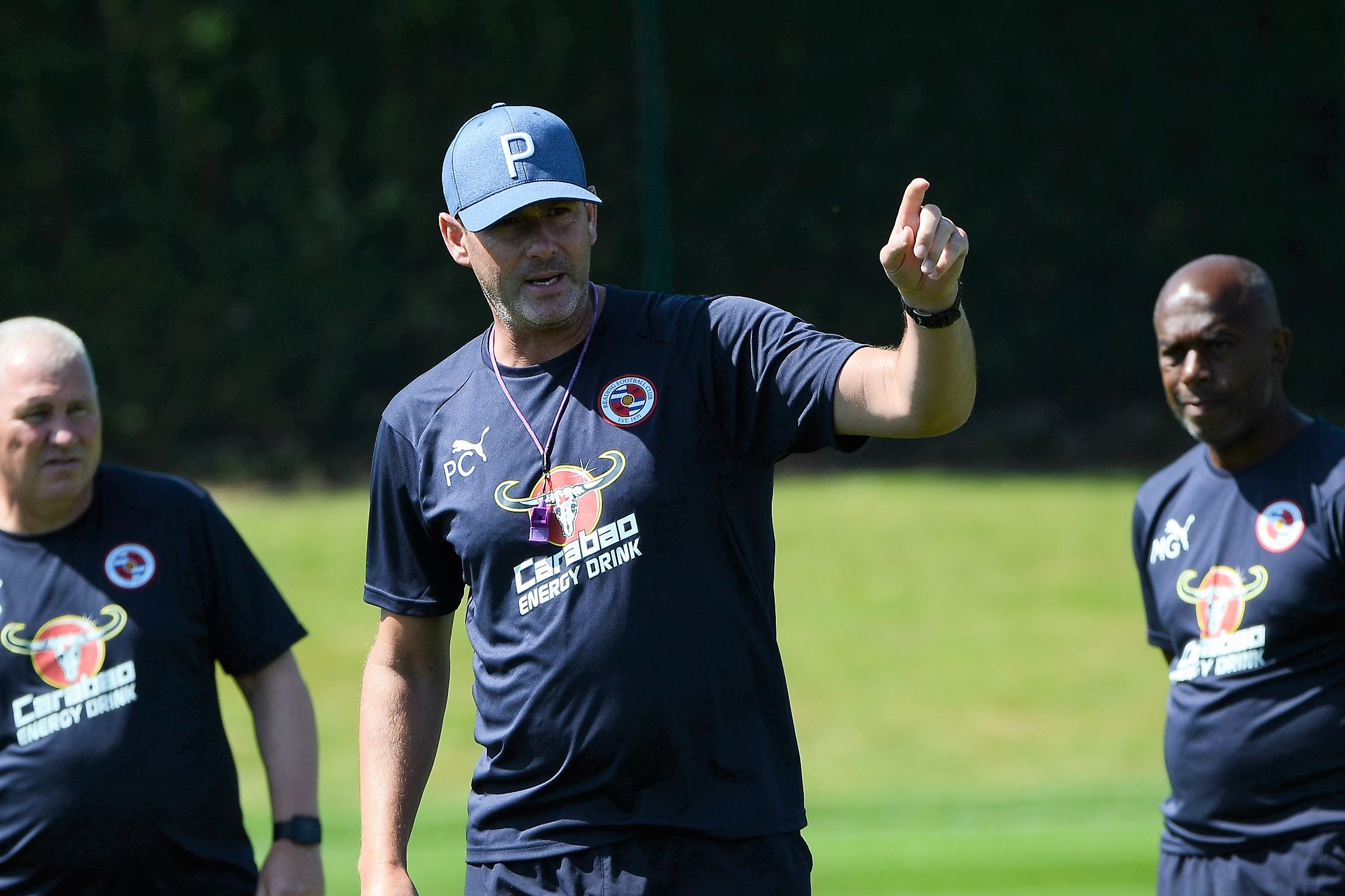 Paul Clement conducts pre-season training at Hogwood Park this week. Pictures: Chris Forsey.