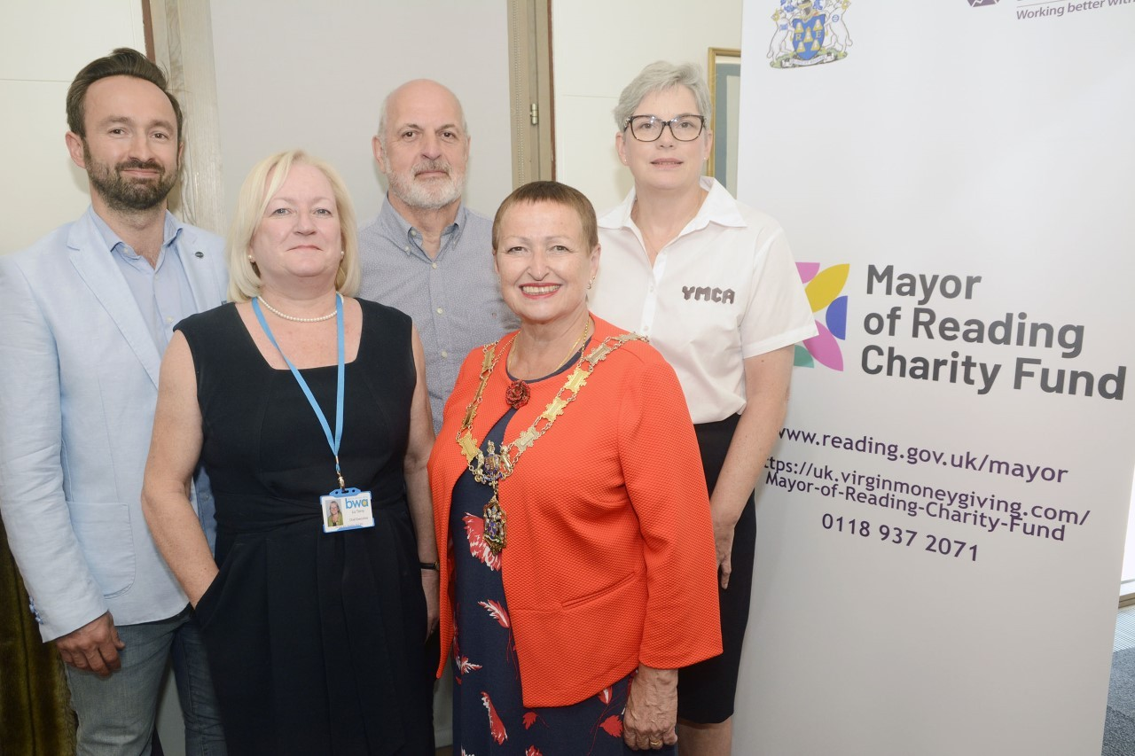 Cllr Edwards with members of the four chosen charities