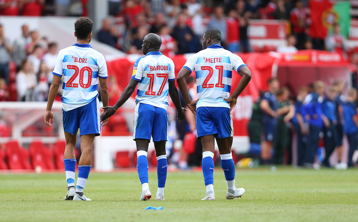 Reading players trudge off the pitch after defeat at Nottingham Forest. Pictures: Jason Dawson.