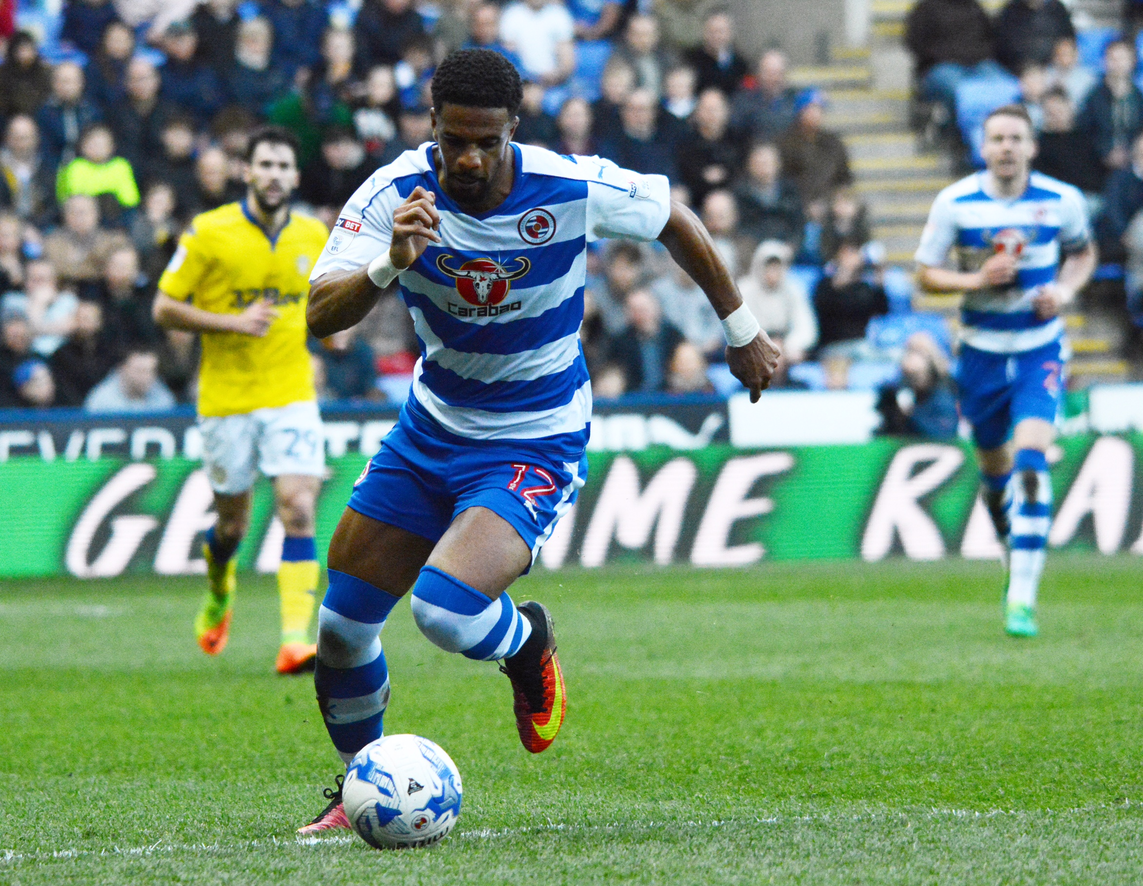 Garath McCleary charges down the wing