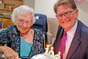 PICTURES: Centenarian celebrates 100th birthday with Sir John
