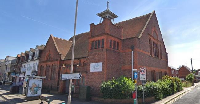 Photo (Google Street View). Under the development plans, the church would maintain a community presence on Oxford Road.