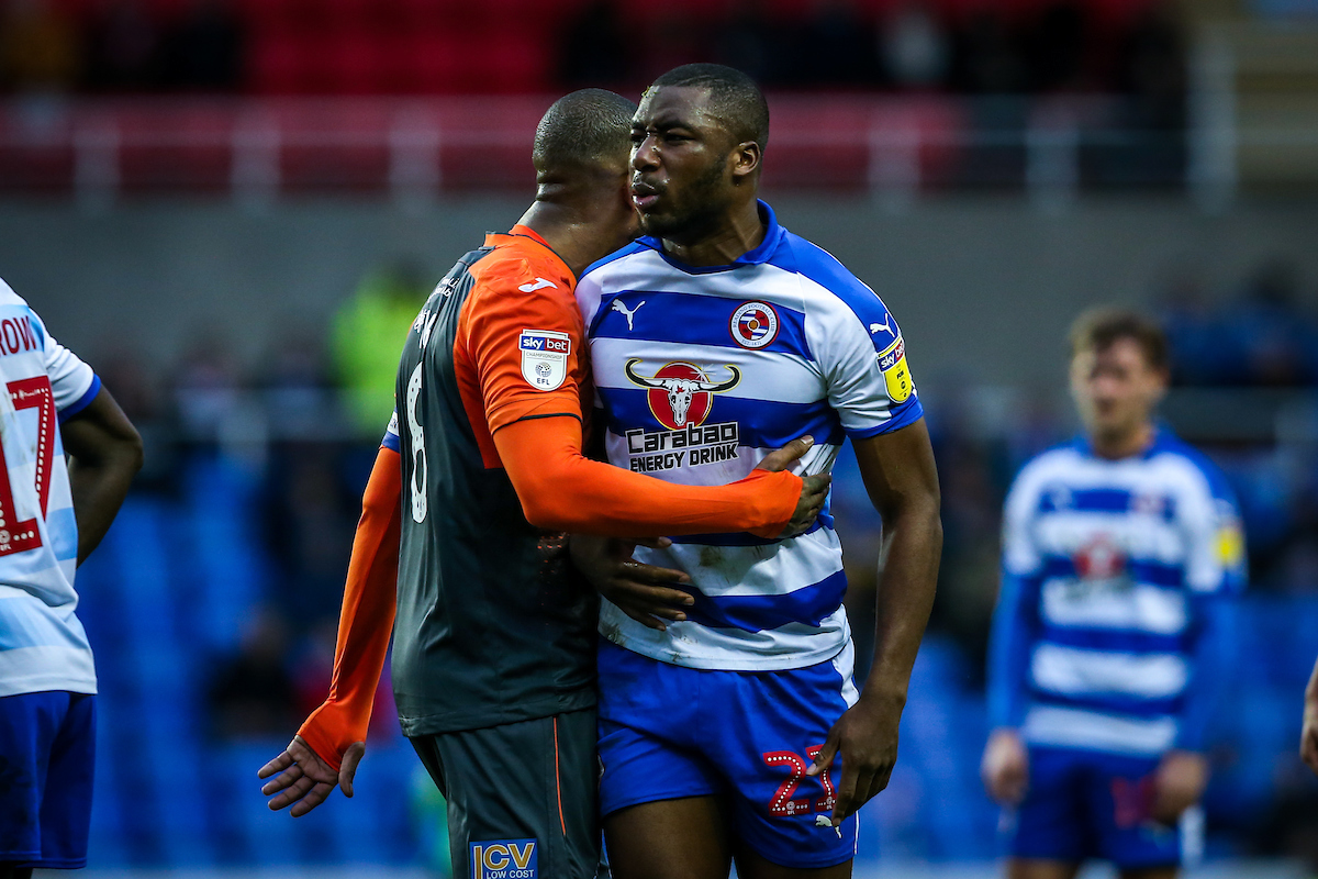 Yakou Meite sums up the mood for Reading FC after the 4-1 defeat to Swansea. Pictures: Jasonpix.