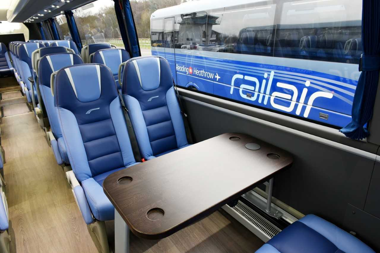 RailAir coaches provide a luxurious travel service between Reading Station and Heathrow Airport