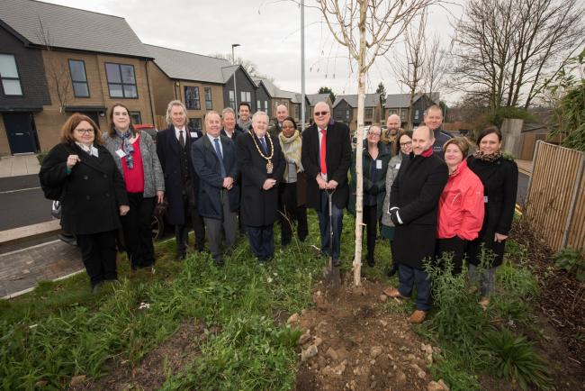 A tree planting ceremony was held at the new development Photo: Justin Thomas