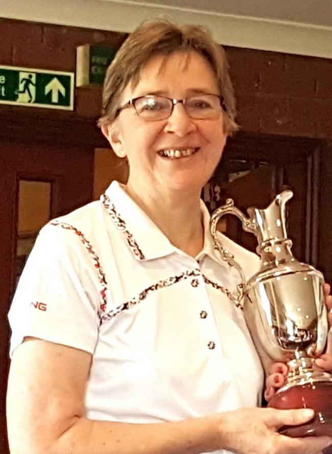 Gale McAuley with the Gamhall Trophy