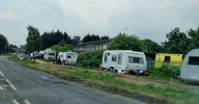 Travellers in Portman Road, Reading