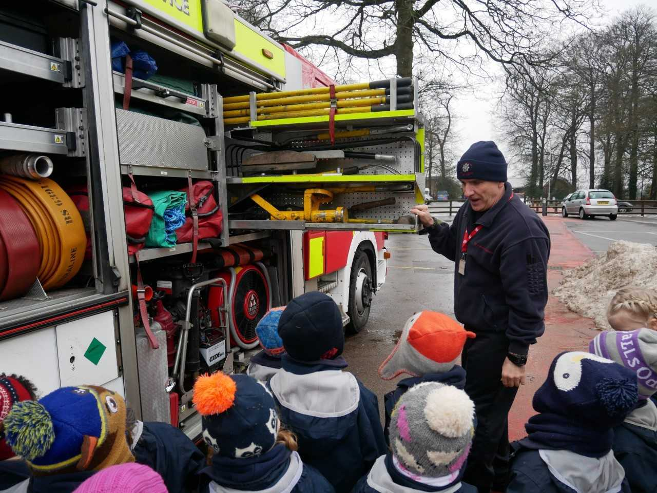Dee Road firefighters pay a visit to The Oratory